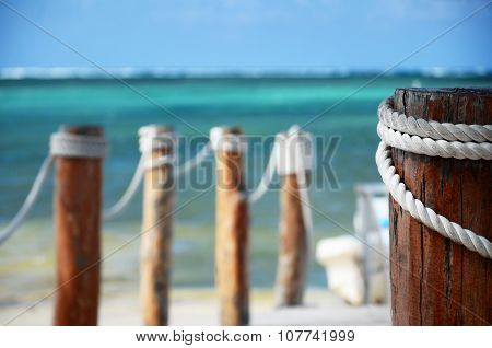 Wooden Pier And Beach