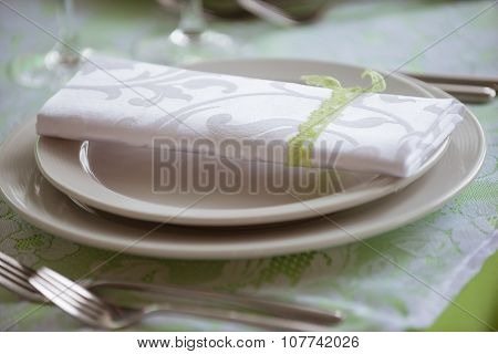 Plates And Forks On The Table