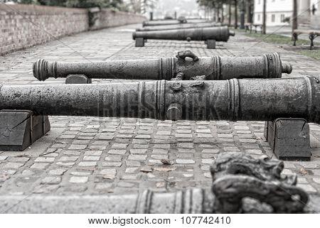 Old Iron Cannon  Budapest, Hungary