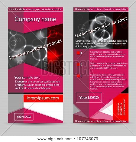 Set of  geometric  flyers.  Abstract vector template design