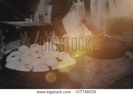 Steamed Dumplings Cultural Traditional China Concept