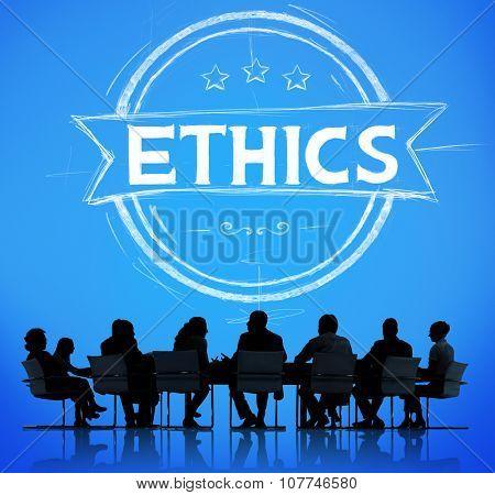 Ethics Integrity Fairness Ideals Behavior Values Concept
