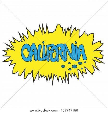 California comic graffity badge