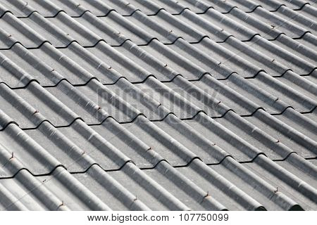 Old Weathered Tile Roof.