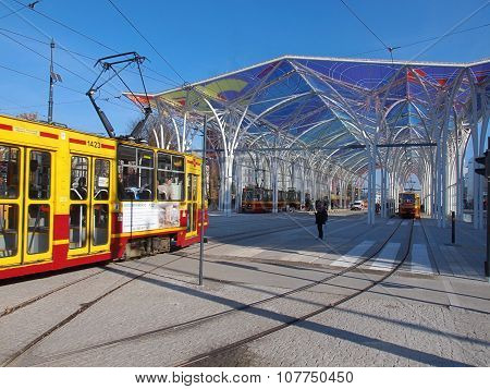 Trams and a great center tram.
