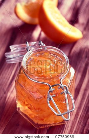 Orange Jam in Jar