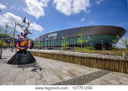 Liverpool Echo arena is an entertainment venue located on Liverpool waterfront at Albert Dock.
