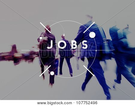 Jobs Job Career Occupation Human Resource Recruitment Concept