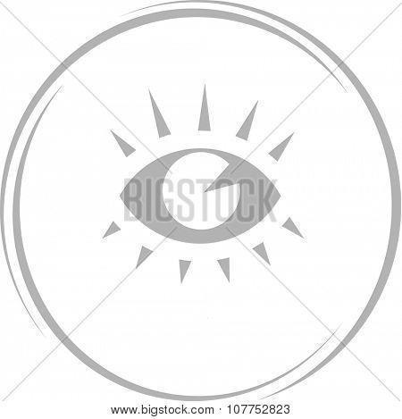 eye. Internet button. Vector icon.