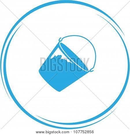 bucket. Internet button. Vector icon.