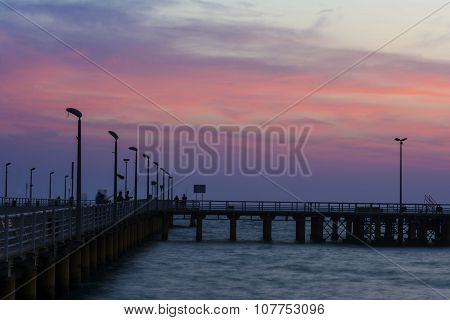 Beach Pier At Down