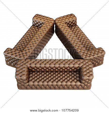 Sofa Leather Pattern Brown