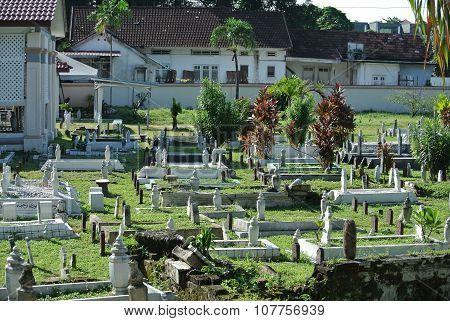 Malay muslim grave yard at Ipoh Perak, Malaysia
