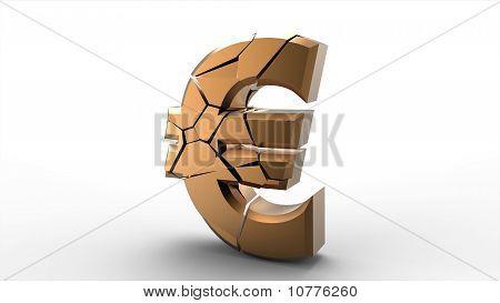 Broken Gold Euro Symbol