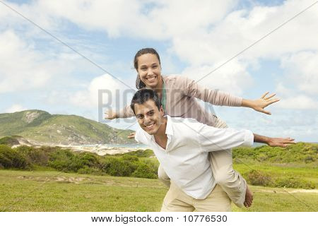 Happy Hispanic Couple In Love