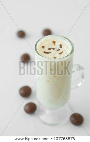 milk yogurt smoothie cocktail milk dark chocolate candy drop