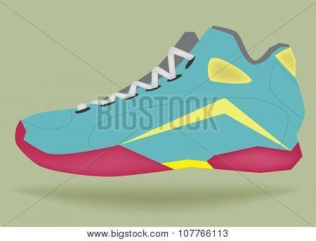 Vector basketball shoe