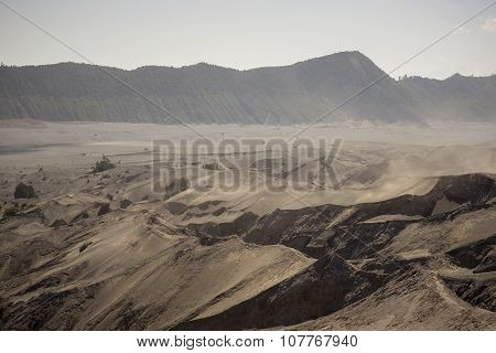 Desert and mountain near Mt. Bromo Java ,Indonesia.