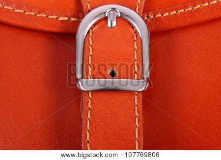 Closeup Of Metal Clasp Handbag