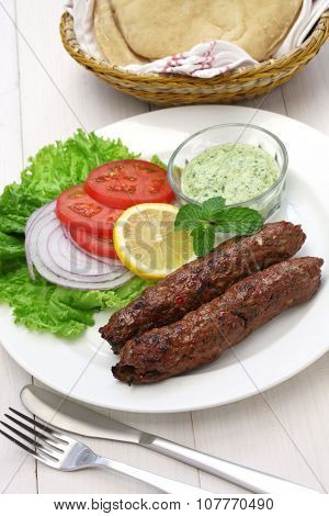 mutton seekh kabab with mint chutney