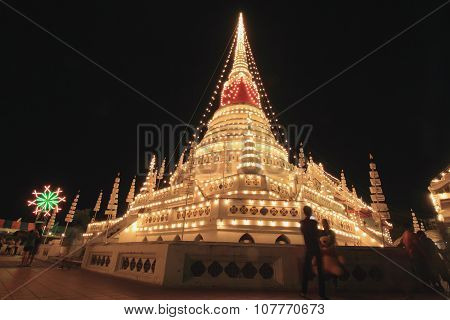 The stupa at temple, Phra samut chedi
