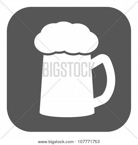 The glass of beer icon. Pub and kvass, alcohol, drink symbol. Flat