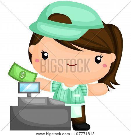 Cute Cashier