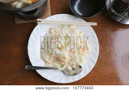 Japanese Fried Rice On Foods Table.