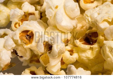 Closeup Of Freshly Cooked Popcorn
