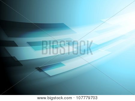 Bright blue hi-tech motion background. Vector image design