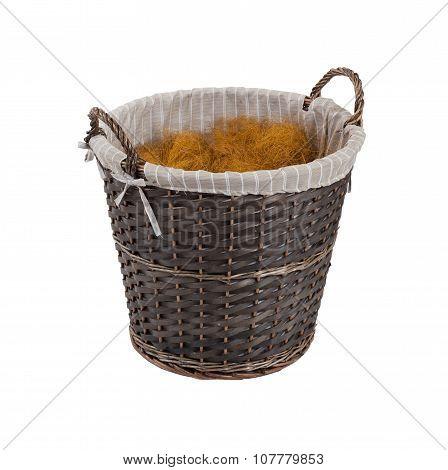 Dark Rattan Basket