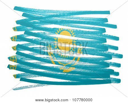 Flag Illustration - Kazakhstan