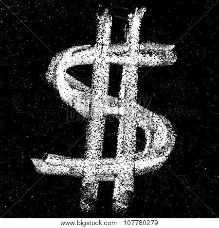 Hand-drawn dollar sign