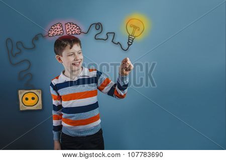 Teenage boy laughing and holding a finger subject igniter charge
