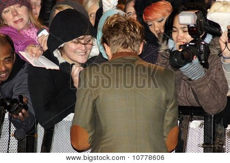 Tom Felton At The Harry Potter And The Deathly Hallows Premiere In Central London 11 November 2010