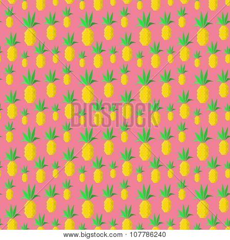 Colrful summer pineapples