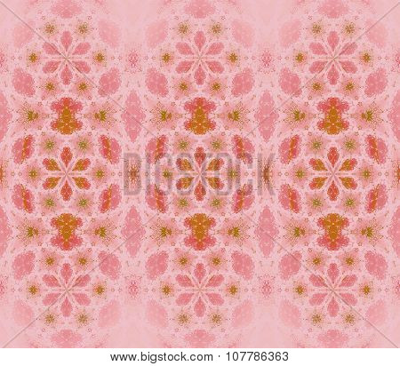 Seamless floral pattern pink green