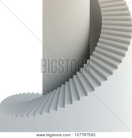 Spiral staircase. 3d render on white background