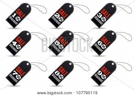 Rectangular Black Friday sales tag set