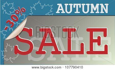 Autumn sale label.