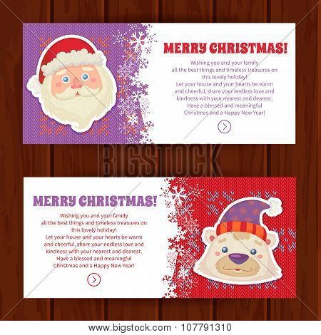 Cute Christmas Characters Greeting Cards