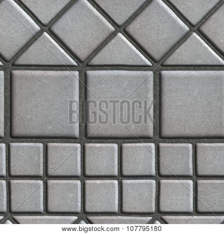 Grey Paving Slabs of the Figures Different Geometrical Shape.