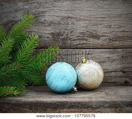 Christmas Tree And Christmas Balls.