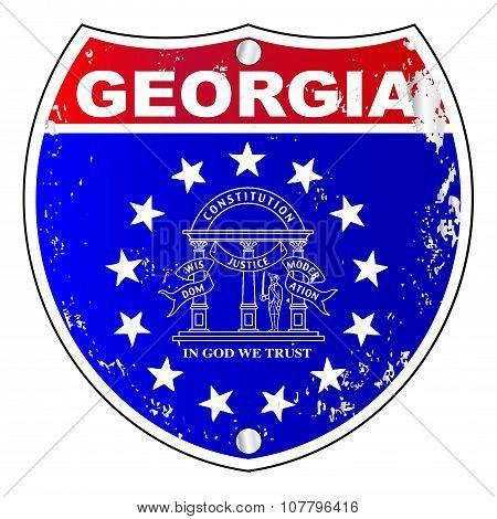 Georgia Interstate Sign