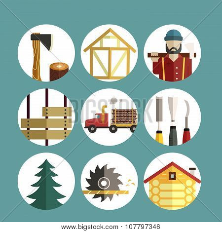 Timber Industry Icons