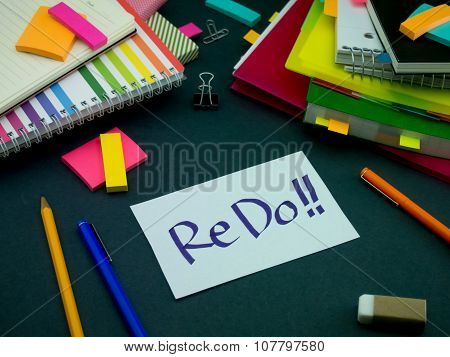 Somebody Left The Message On Your Working Desk; Redo