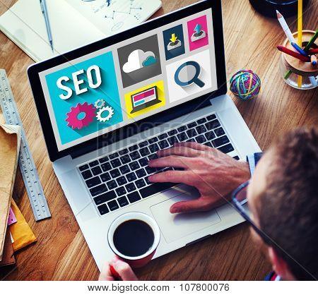 SEO Internet Online Optimization Search Technology Concept