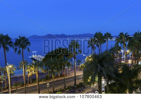 Cannes In France In The Morning