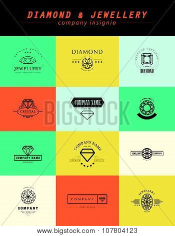 Vector collection of jewelry logo