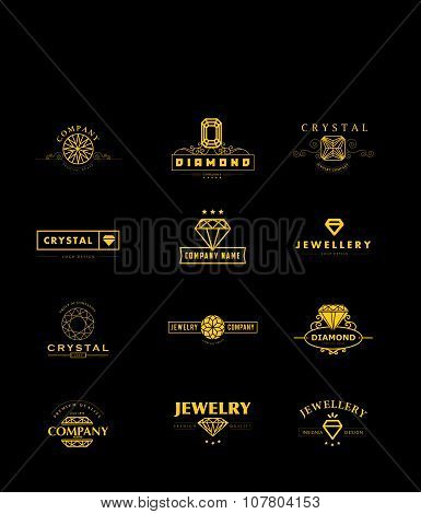 Vector collection of jewellery and diamond logo